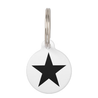 Star / Round Small Pet Tag