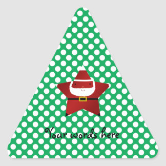 Star santa with green and red polka dots stickers
