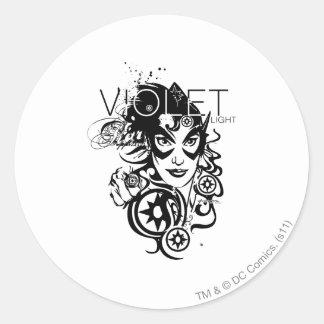 Star Sapphire Graphic 4 Round Sticker