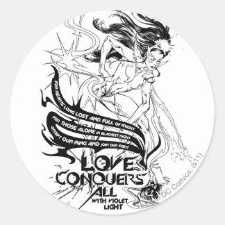 Star Sapphire Graphic 5 Round Sticker