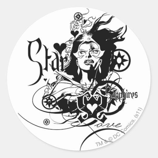 Star Sapphire Graphic 7 Stickers