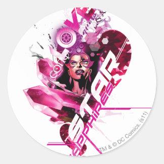 Star Sapphire Graphic 8 Round Sticker