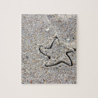 Star Shape Created in the Sand Jigsaw Puzzle