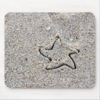 Star Shape Created in the Sand Mouse Pad