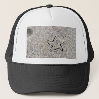 Star Shape Created in the Sand Trucker Hat