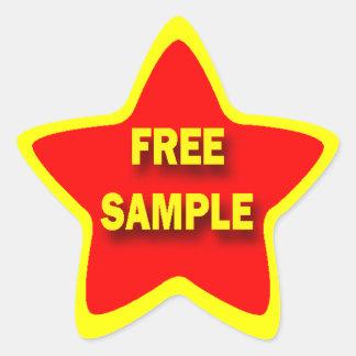 Star Shape FREE SAMPLE Retail Sticker