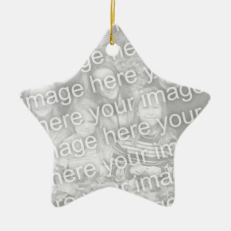 Star shape photo ornament | Add your picture image