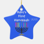 STAR SHAPED BABY'S FIRST  HANUKKAH Ornament