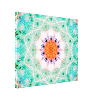 Star-Shaped Mandala Canvas Print