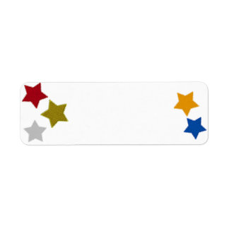 Star Shaped Patches Label Return Address Label