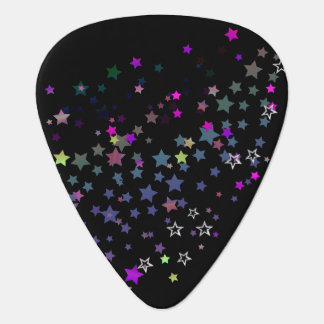 Star Shine Party Stars, black Guitar Pick