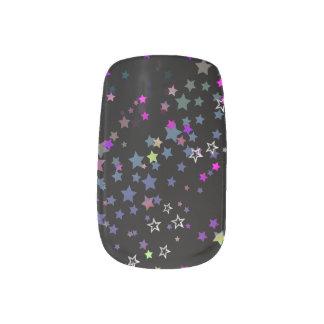 Star Shine Party Stars, Black Minx Nail Art
