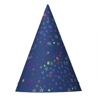Star Shine Party Stars, Midnight Blue Party Hat
