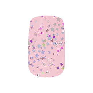 Star Shine Party Stars, Pink Minx Nail Art