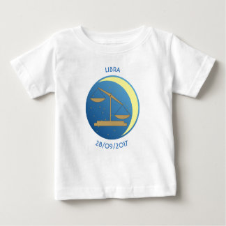 Star Sign Baby T-shirt Libra