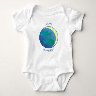 Star Sign Baby Vest Pisces Baby Bodysuit