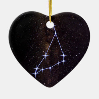 Star Sign Capricorn Ceramic Heart Ornament