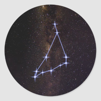 Star Sign Capricorn Classic Round Sticker