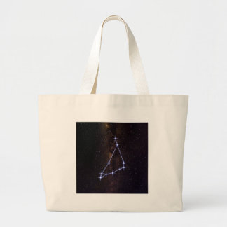 Star Sign Capricorn Large Tote Bag