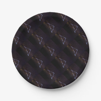 Star Sign Capricorn Paper Plate