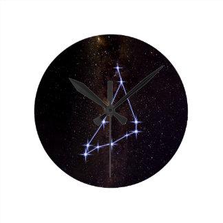 Star Sign Capricorn Round Clock