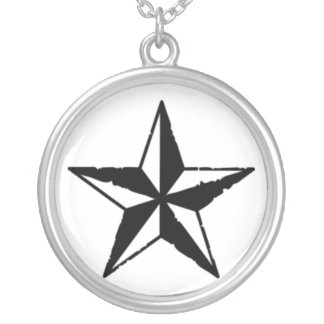 star silver plated necklace