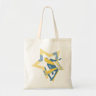 Star Skater - Blue and Yellow Tote Bag