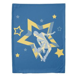Star Skater, Blue & Yellow Duvet Cover