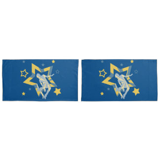 Star Skater in Blue and Yellow Pillowcase