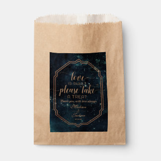 Star Sky Celestial Galaxy Wedding Love is Sweet Favour Bag