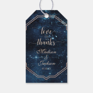 Star Sky Celestial Galaxy Wedding Love & Thanks Gift Tags