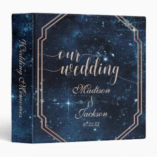 Star Sky Celestial Galaxy Wedding Photo Album 3 Ring Binder