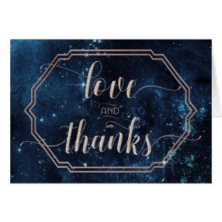 Star Sky Celestial Galaxy Wedding Thank You Photo Card