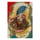 Star Spangled Banner Bald Eagle Art Print