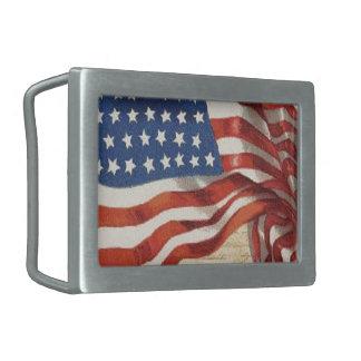 Star Spangled Banner Belt Buckle