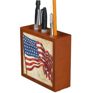 Star Spangled Banner Desk Organizer