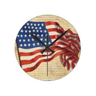 Star Spangled Banner Round Clock