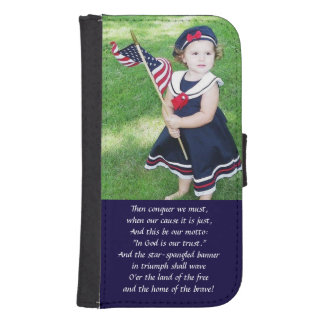 Star Spangled Banner Samsung S4 Wallet Case