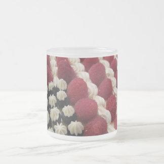 Star Spangled BluBerries Whipped Cream Rasstripes 10 Oz Frosted Glass Coffee Mug