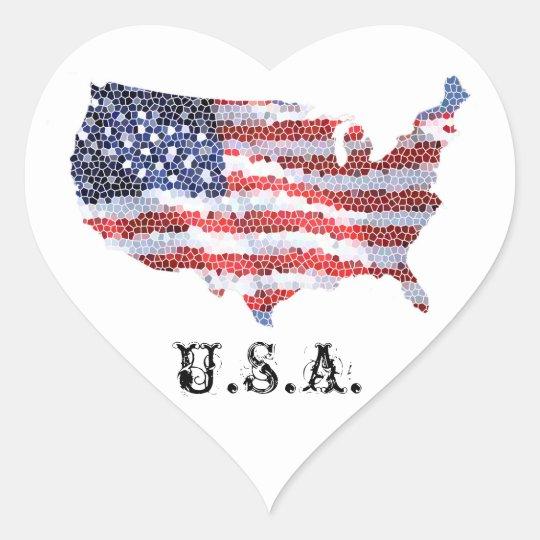 Star Spangled Heart Heart Sticker