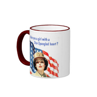 Star Spangled Heart Ringer Mug
