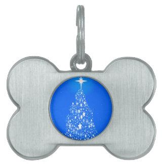 Star Spangled Snowflake Christmas Tree Pet ID Tags