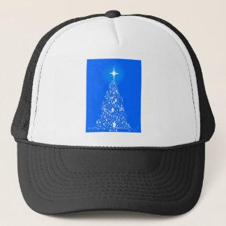 Star Spangled Snowflake Christmas Tree Trucker Hat
