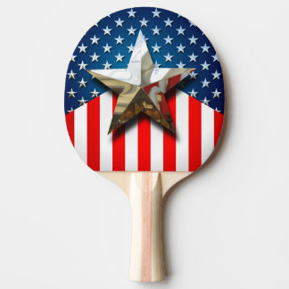 Star-Spangled Style Ping Pong Paddle