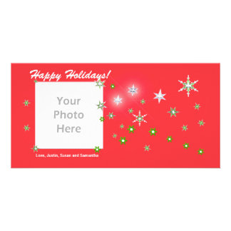 Star Sparkle Red Holidays Card