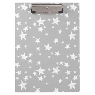 Star/Stars - Slate Grey Neutral / Andrea Lauren Clipboard