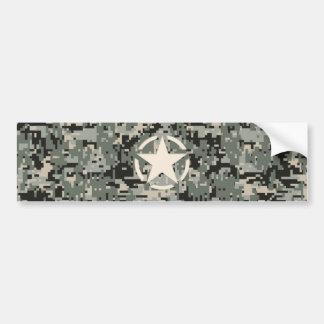Star Stencil on Digital Camouflage Bumper Sticker