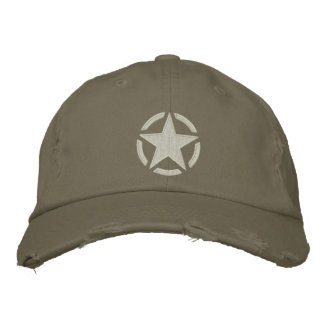 Star Stencil Vintage Decal Stylish Embroidery Embroidered Baseball Caps