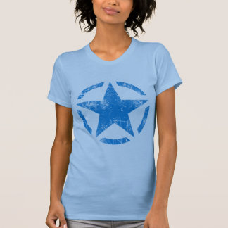 Star Stencil Vintage Jeep Decal Grunge Style T Shirt