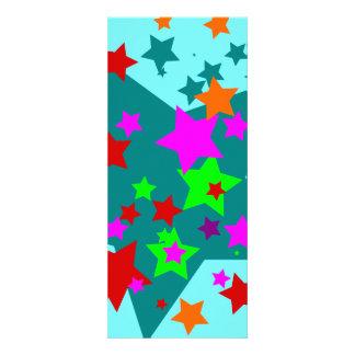 Star Struck Fun Stars Teal Red Pink Lime Orange Invitations